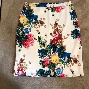 Floral knit skirt from Jade Mackenzie